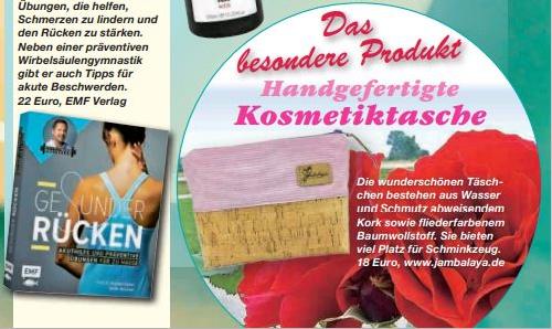 Jambalaya Korktasche veröffentlicht im Magazin 7 Tage!