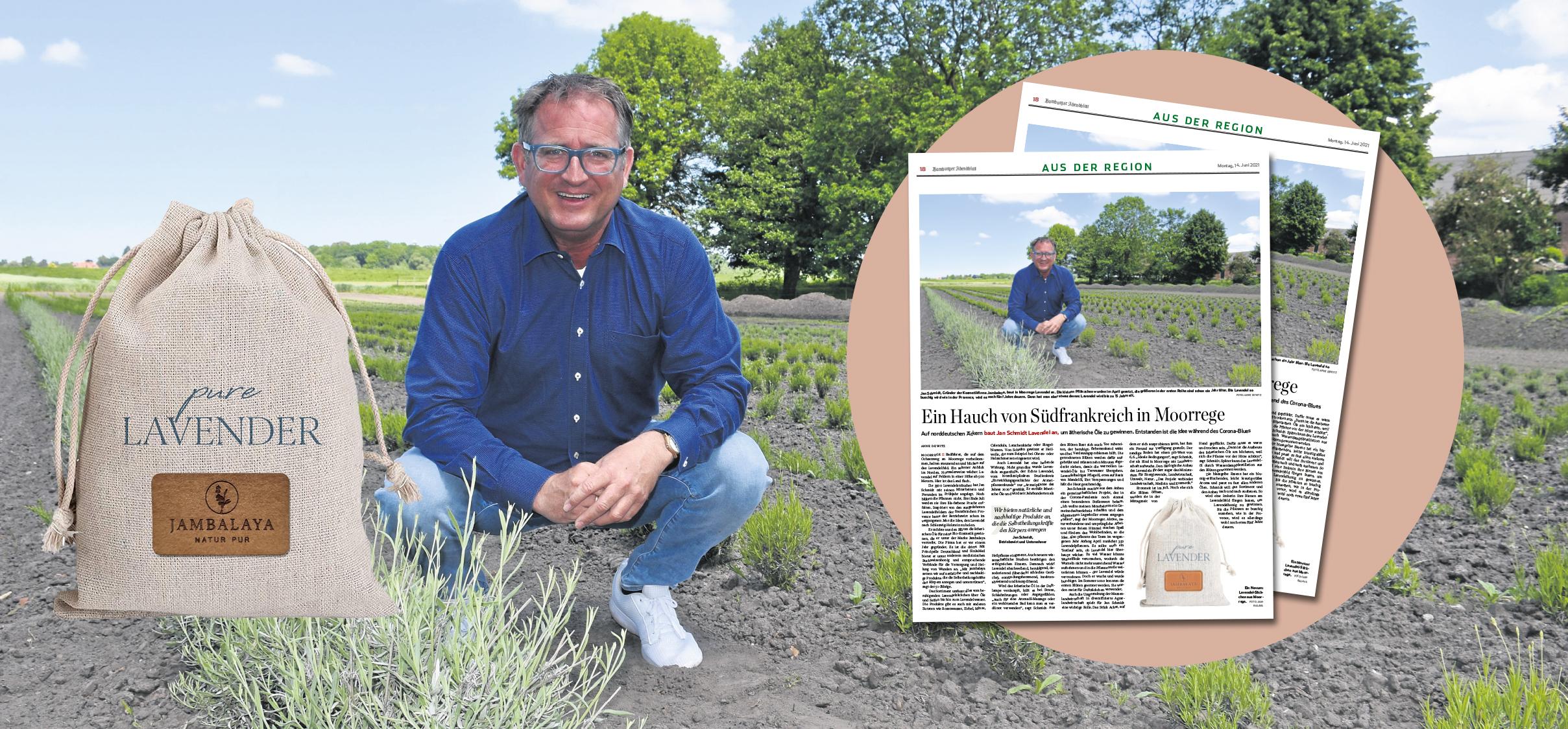 Read more about the article Das Hamburger Abendblatt berichtet über unseren Lavendelanbau!